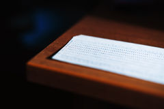 Diagonal punched card bokeh Stock Photography