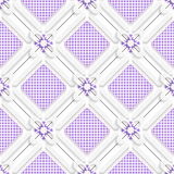 Diagonal purple checked squares pattern. Abstract 3d seamless background. Diagonal purple checked squares pattern with cut out of paper 3d effect vector illustration
