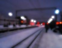 Diagonal railway track bokeh background Royalty Free Stock Image