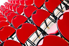 Diagonal red chairs Stock Photography