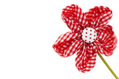 Diagonal red drapery flower blossom. On white background Stock Photography