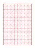 Diagonal Red Graph Paper. Red line graph paper, graphing paper, grid paper or millimeter paper with diagonal guides for drawing diagrams Royalty Free Stock Photography