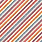A diagonal retro das cores listra o fundo abstrato Linha de inclinação fina papel de parede Teste padrão sem emenda com motivo cl Imagem de Stock Royalty Free