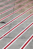 Diagonal Road lines Stock Photo