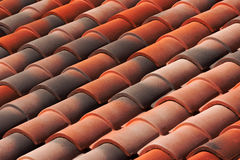 Diagonal roof tiles Royalty Free Stock Images