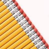Diagonal row of pencils. royalty free stock images