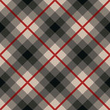 Diagonal seamless fabric pattern in gray and red Royalty Free Stock Images