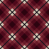 Diagonal seamless fabric pattern in red and gray Royalty Free Stock Images