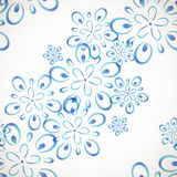 Diagonal seamless flower pattern Stock Images