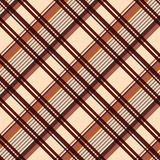 Diagonal seamless pattern in beige and brown Stock Photo