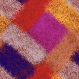 Diagonal seamless pattern with colorful weave elements Royalty Free Stock Image
