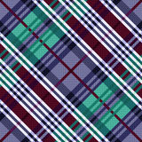 Diagonal seamless pattern in cool hues Stock Images