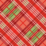 Diagonal seamless pattern mainly in red hues Royalty Free Stock Image
