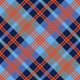 Diagonal seamless pattern in red an blue hues Stock Photos