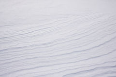 Texture Series - Diagonal Snow Drift Pattern. View of diagonal small snow drifts on flat landscape royalty free stock photos