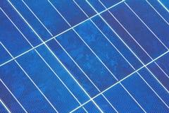 diagonal sol- enhetspanel för closeup Royaltyfri Bild