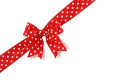 Diagonal spotted bow Royalty Free Stock Images