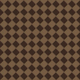 Diagonal square brown beige seamless fabric texture pattern Royalty Free Stock Images