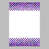 Diagonal square pattern page background template - vector design from rounded squares in purple tones. Diagonal square pattern page border background template Royalty Free Stock Image