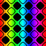 Stained glass squares rainbow seamless pattern Royalty Free Stock Photo