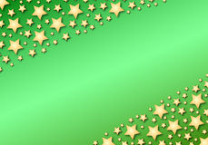 Diagonal stars on green gradient Royalty Free Stock Image