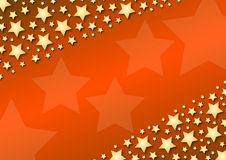 Diagonal stars on red gradient Stock Photo