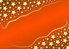 Diagonal stars on red gradient Stock Images
