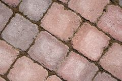 Diagonal stone tile pattern Royalty Free Stock Images