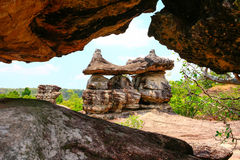 Diagonal  stone Stock Image