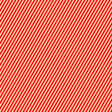 Diagonal striped red white pattern. Abstract repeat straight lines texture background. Royalty Free Stock Photos