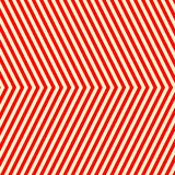 Diagonal striped red white pattern. Abstract repeat straight lines texture background. Royalty Free Stock Images