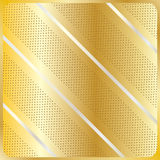 Diagonal stripes geometric gold pattern. Gold diagonal stripes geometric pattern. Silver diagonal lines with polka dots on gold background. For art, print, web royalty free illustration