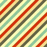 Diagonal stripes retro colours, seamless pattern Royalty Free Stock Image