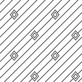 Diagonal stripped geometric seamless pattern Royalty Free Stock Photos