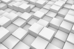 Diagonal surface made of cubes Royalty Free Stock Image