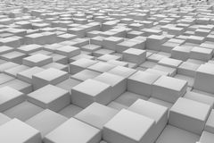 Diagonal surface made of cubes Stock Photos