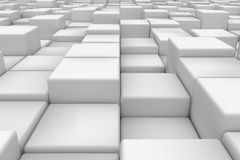 Diagonal surface made of cubes. Wall of cubes. Abstract background. 3d render Stock Photos