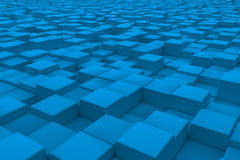 Diagonal surface made of light blue cubes Stock Photo