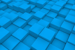 Diagonal surface made of light blue cubes Royalty Free Stock Image