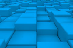 Diagonal surface made of light blue cubes Stock Image