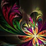Diagonal symmetric multicolor fractal tracery Stock Image