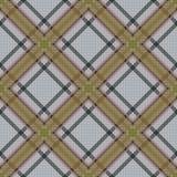 Diagonal tartan brown and gray fabric seamless tex Stock Photo
