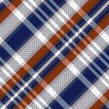 Diagonal tartan seamless texture in blue and light grey hues. Diagonal seamless vector pattern as a tartan plaid mainly in blue, brown and light grey colors Royalty Free Stock Photos