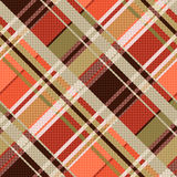 Diagonal tartan seamless texture mainly in brown hues Royalty Free Stock Photography