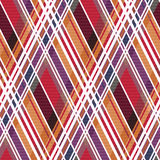 Diagonal tartan seamless texture mainly in warm colors Stock Images
