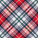 Diagonal tartan seamless texture in red and light grey hues Stock Image