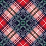 Diagonal tartan seamless texture in various colors Stock Photos