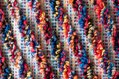 Diagonal terrycloth pattern. Close up of colorful diagonal frottee pattern Royalty Free Stock Images