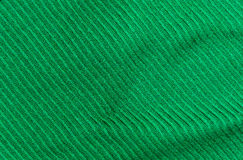 The Diagonal texture of green thick woolen cloth Stock Photos