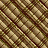 Diagonal textured brown plaid Stock Photo